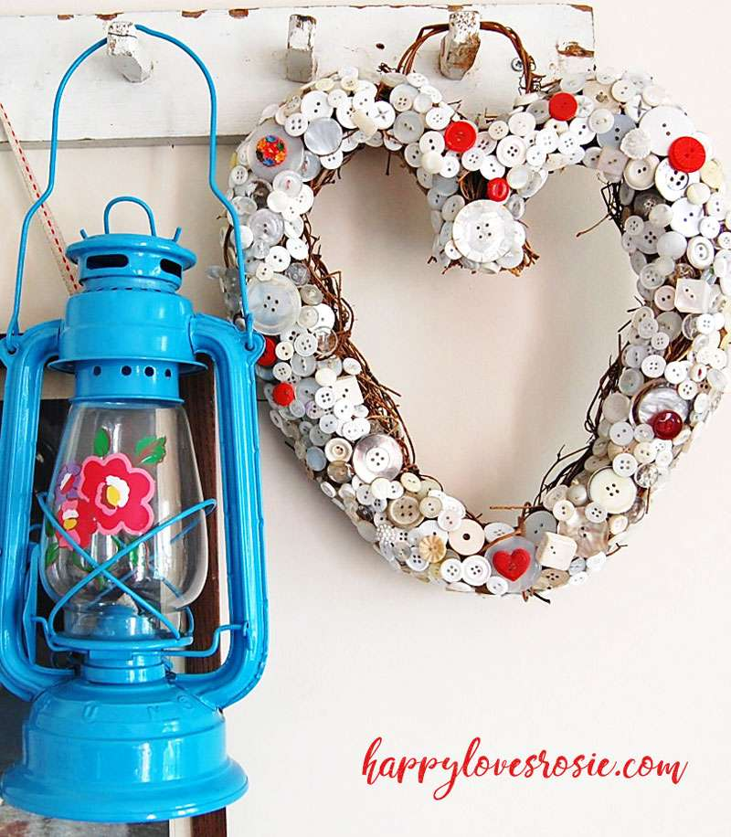 cath kidston lantern and button heart