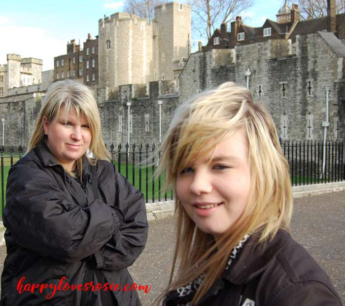 happy and rosie at the tower of london