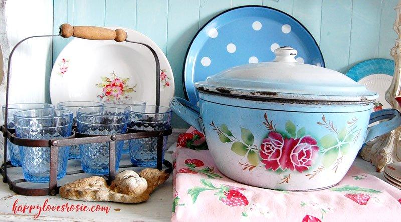 vintage french enamel meets cath kidston