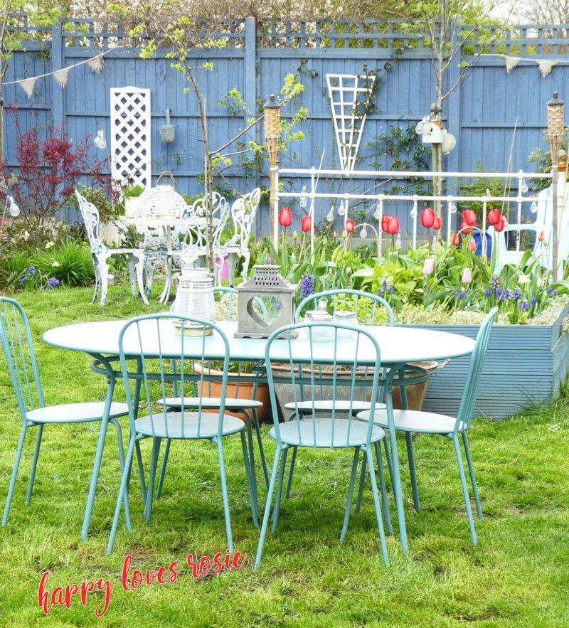 pretty garden scene