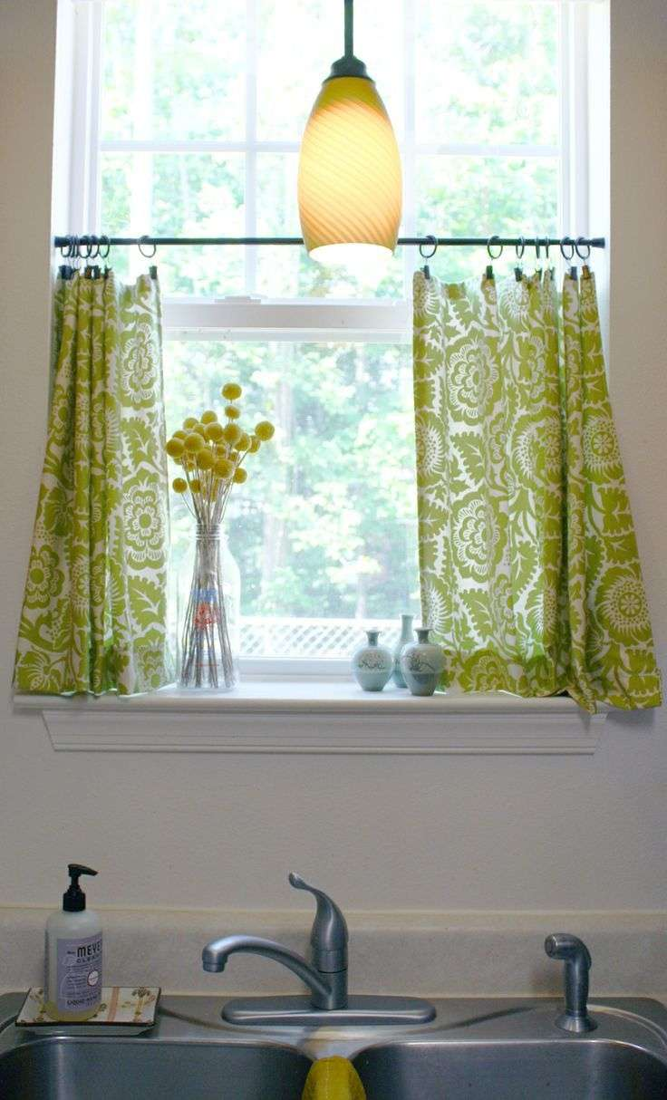 yellow floral cafe curtains