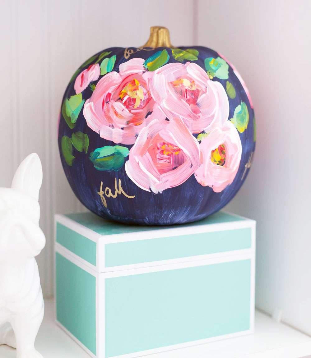painterley rose pumpkin
