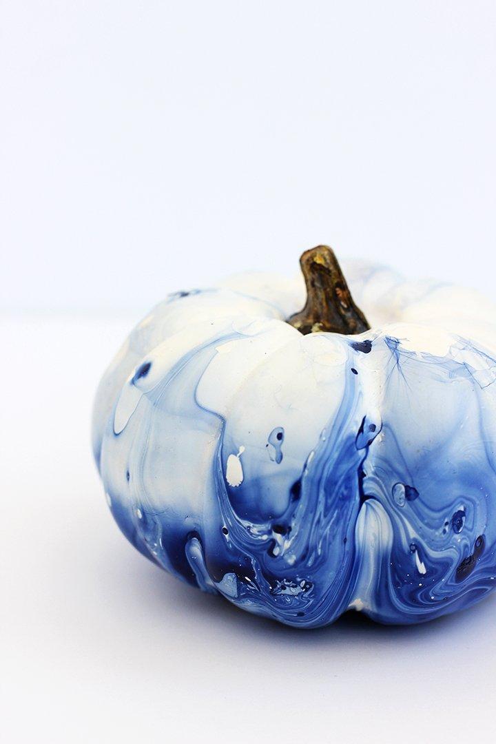 dip dyed indigo pumpkins