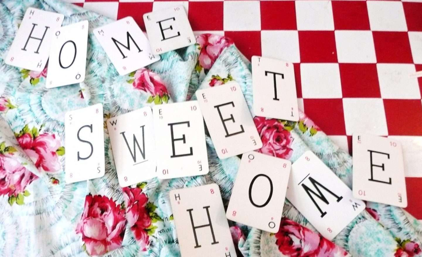 home sweet home playing cards
