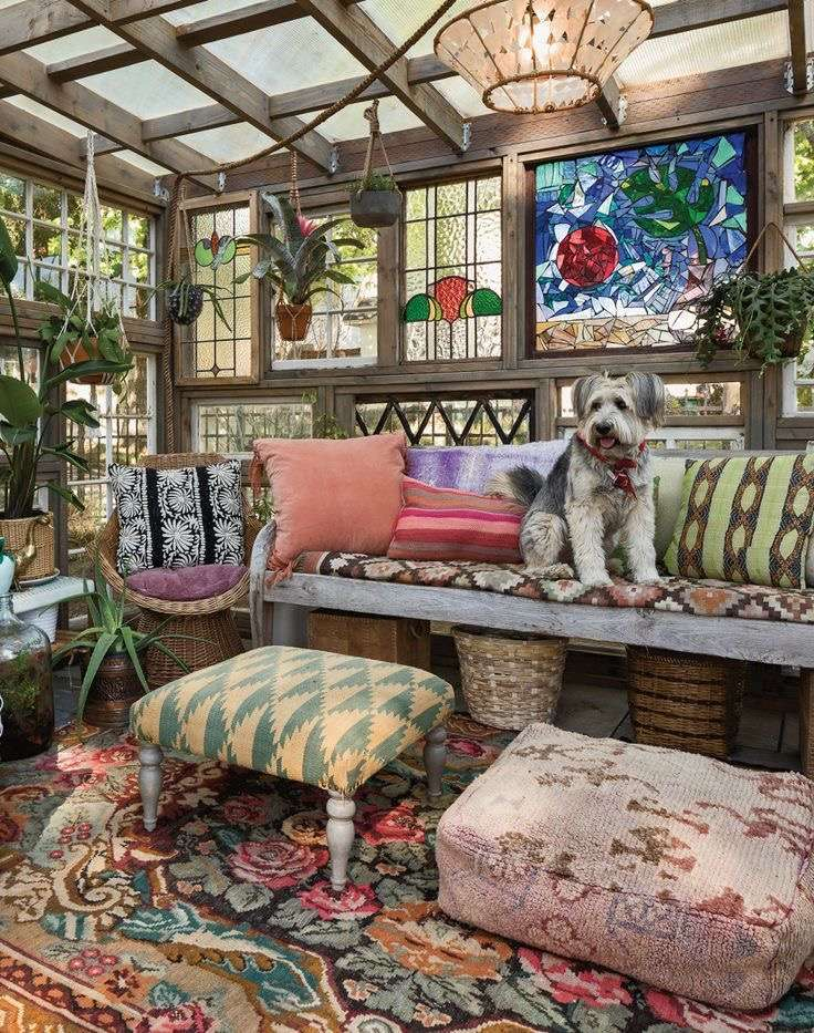 Eclectic she shed